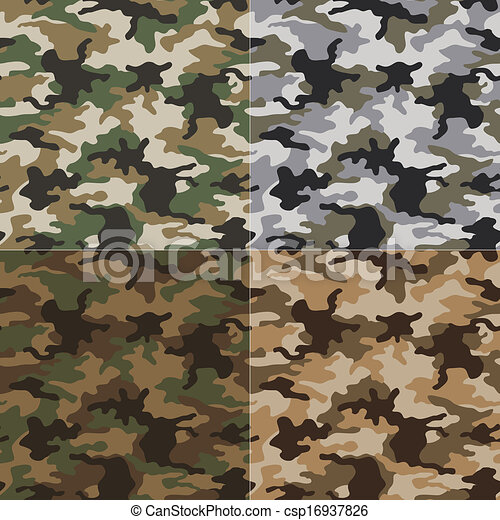 seamless camouflage pattern - csp16937826
