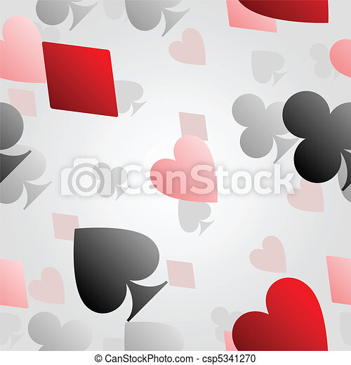 Seamless card suit background - csp5341270
