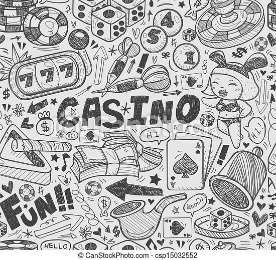 seamless casino pattern - csp15032552