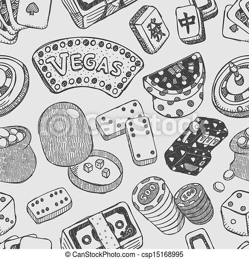 seamless casino pattern - csp15168995