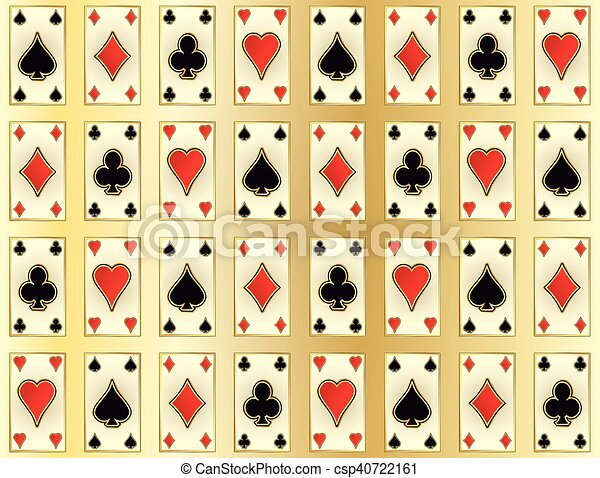 Seamless casino pattern with poker - csp40722161