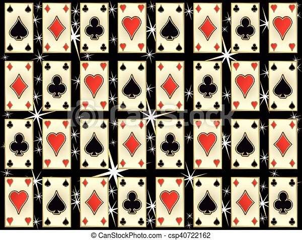 Seamless casino pattern with poker - csp40722162
