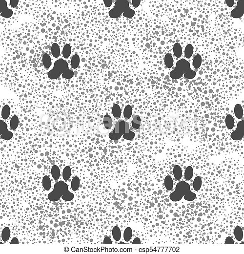 d1a15fed5830 Seamless cat animal paw pattern. print of paw background. Seamless ...