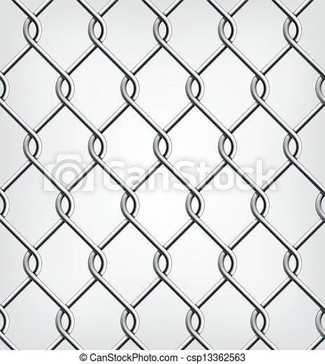 Seamless Chain Fence. - csp13362563
