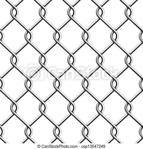 Seamless Chain Fence. - csp13547249