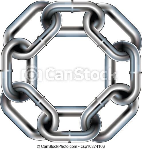 Seamless chain link border - csp10374106