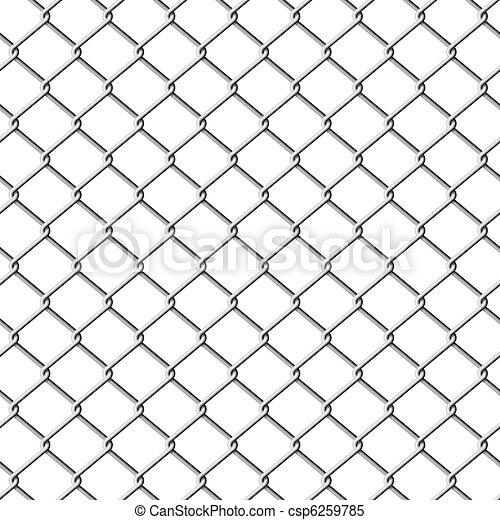 Una cerca de enlace. Sin techo. - csp6259785