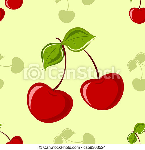 Seamless Cherry Background - csp9363524