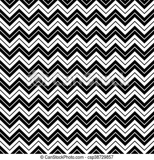 Seamless chevron inlay art deco pattern background black and white.