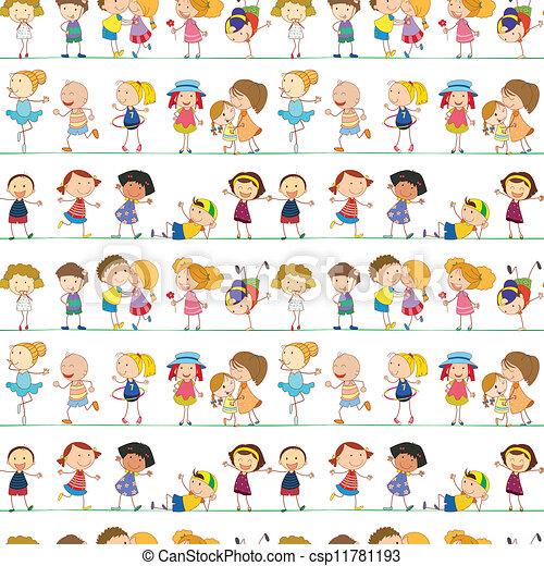 Seamless children - csp11781193