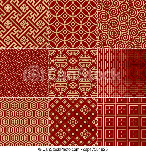 seamless chinese background - csp17584925