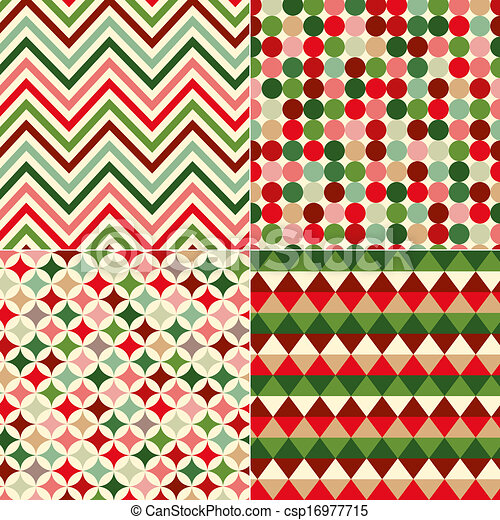 seamless christmas colors pattern - csp16977715