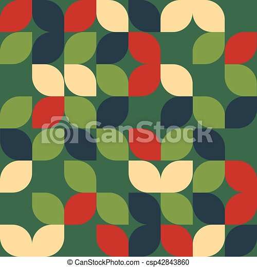 Seamless christmas leaf pattern - csp42843860