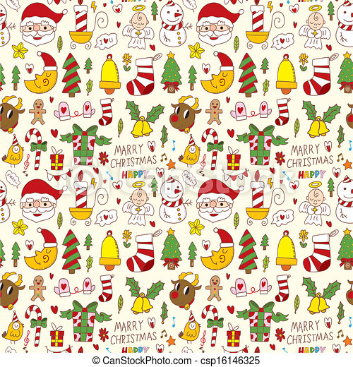Seamless Christmas Pattern Background Magnificent Christmas Pattern