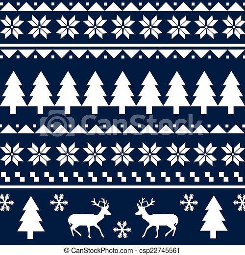 Seamless Christmas Pattern Interesting Christmas Pattern