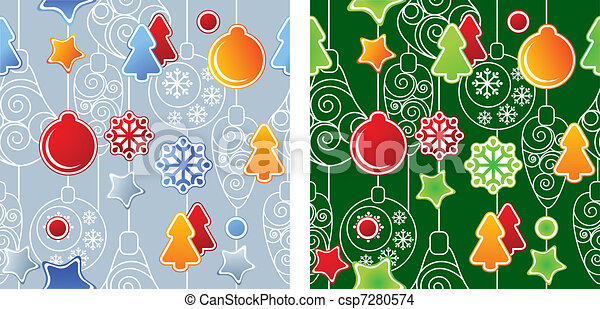 Seamless Christmas pattern - csp7280574