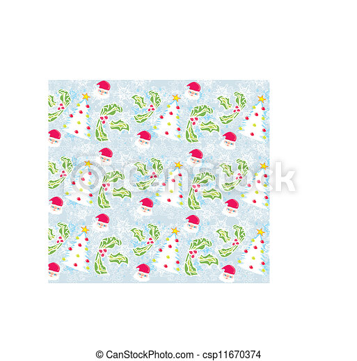Seamless Christmas pattern - csp11670374