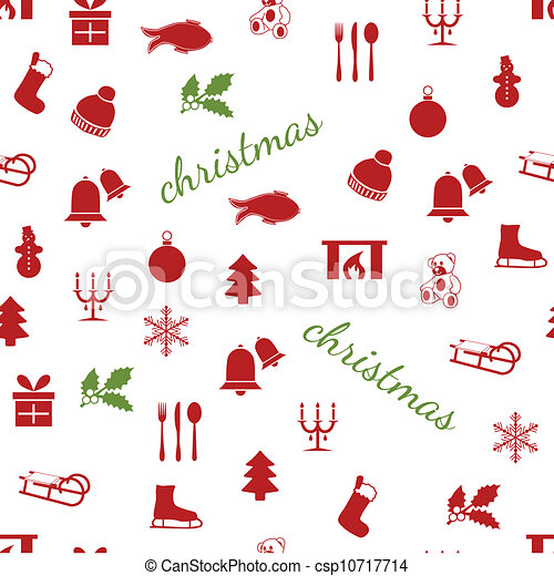 seamless christmas pattern - csp10717714