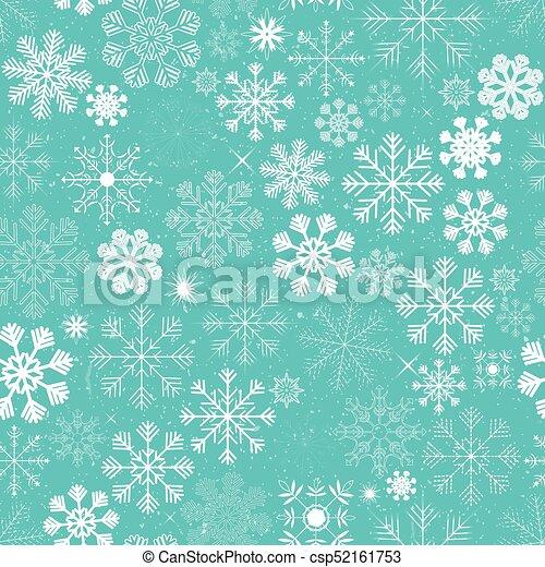 Seamless Christmas Snowflakes Background - csp52161753