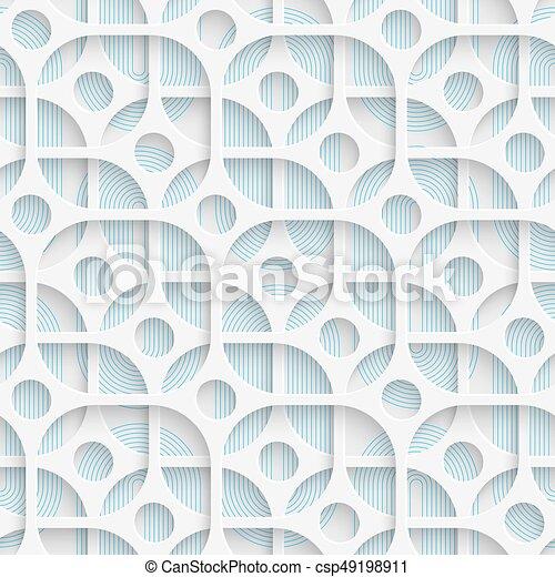 Seamless Circle and Square Design. Futuristic Tile Pattern