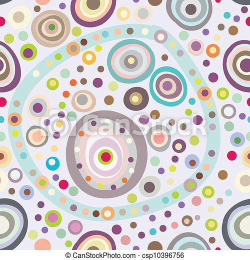 Seamless circle background, seamless pattern with round shapes - csp10396756