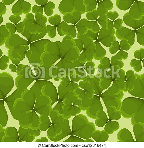 Seamless clover background - csp12816474