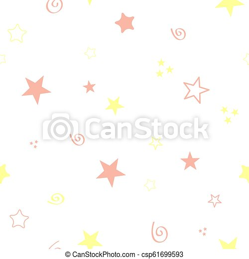 Seamless color pattern for your baby set on white background. Happy child vector - csp61699593