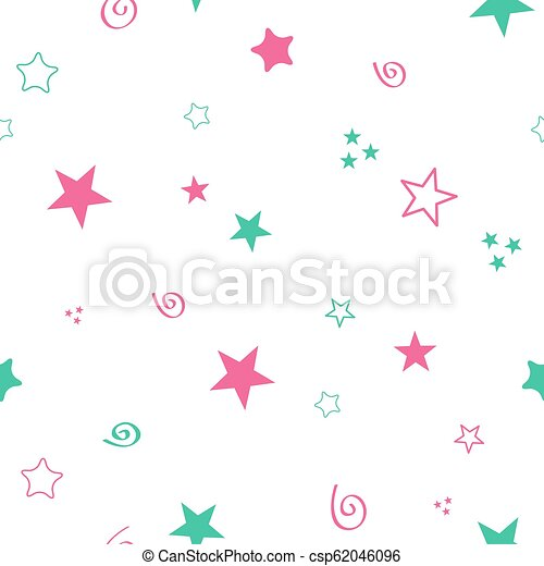 Seamless color pattern for your baby set on white background. Happy child vector - csp62046096