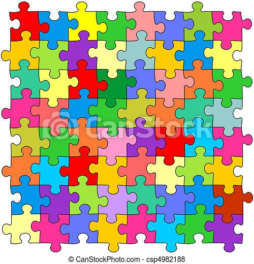 Discount School Supply - Bright Color Puzzles - Set of 8