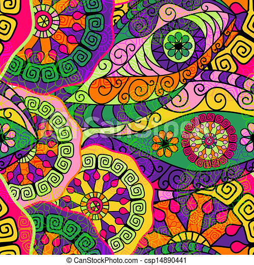 Seamless colorful pattern - csp14890441