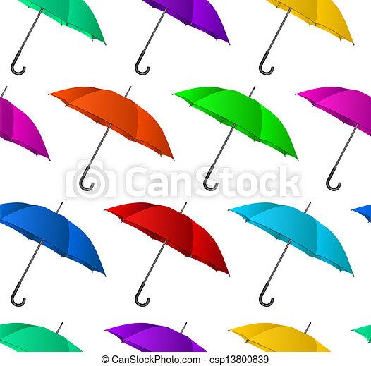 Seamless colorful umbrellas background - csp13800839