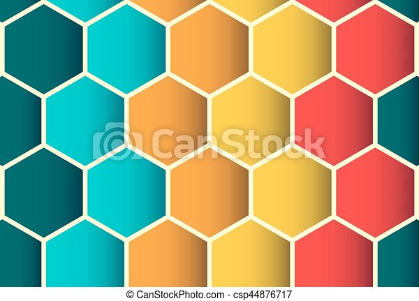 Patrón de poligon colorido sin costura, fondo - csp44876717