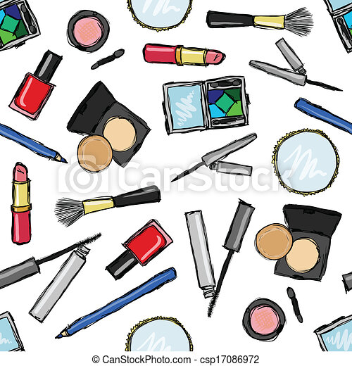 seamless cosmetics pattern - csp17086972
