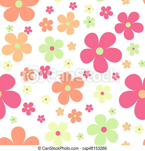 Seamless cute floral pattern vector background flowers wrapping seamless cute floral pattern vector background flowers wrapping paper textile template mightylinksfo