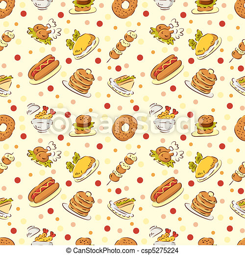 Seamless Cute Food Pattern Seamless Cute Food Pattern
