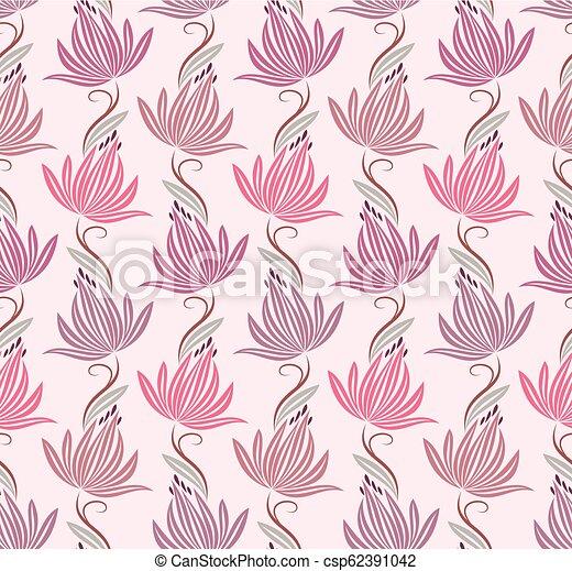 Seamless Cute Lotus Flower Wallpaper