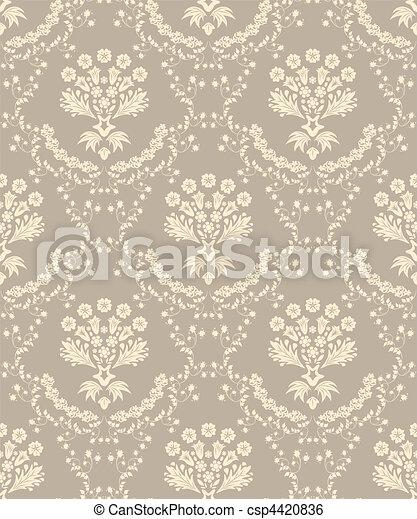seamless damask pattern - csp4420836