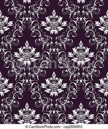 seamless damask pattern - csp2694853