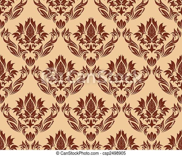 seamless damask pattern - csp2498905