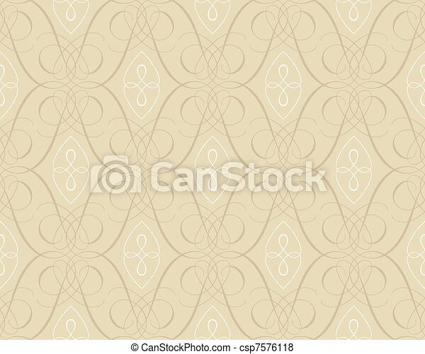 seamless damask wallpaper backgroun - csp7576118