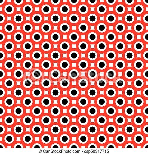 Seamless decorative circle pattern - csp50317715