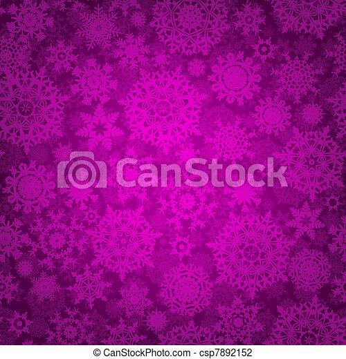 Seamless deep purple christmas pattern. EPS 8 - csp7892152