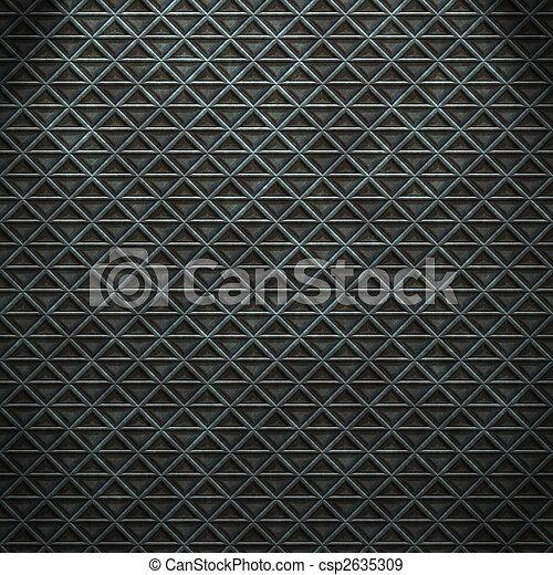 seamless diamond steel background - csp2635309