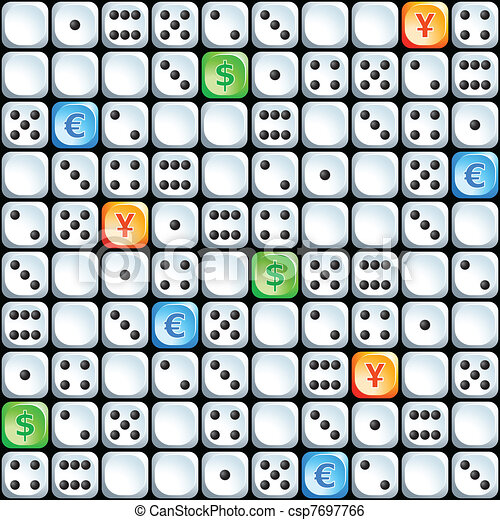 Seamless dices pattern - csp7697766