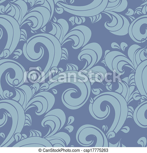 seamless doodle vintage - csp17775263