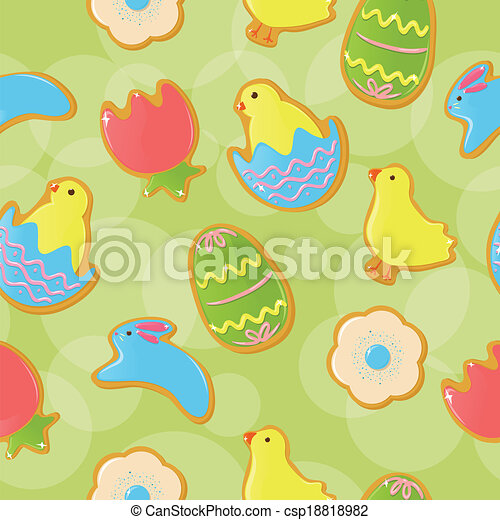 seamless easter cookie background seamless background with cute