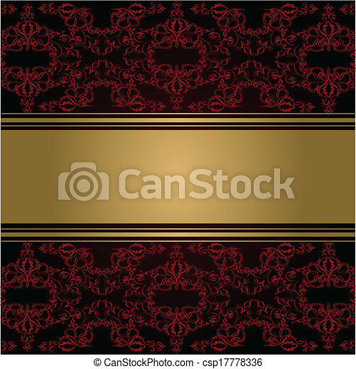 seamless, elemento, vitoriano, vetorial, borda, style., design. - csp17778336