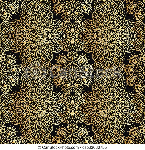Seamless ethnic pattern with mandal - csp33680755