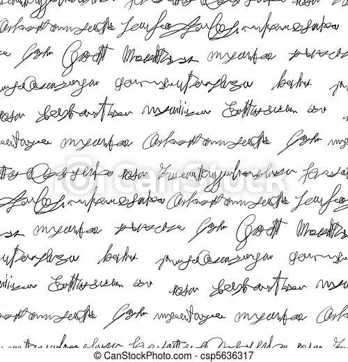 Seamless fake writing texture - csp5636317
