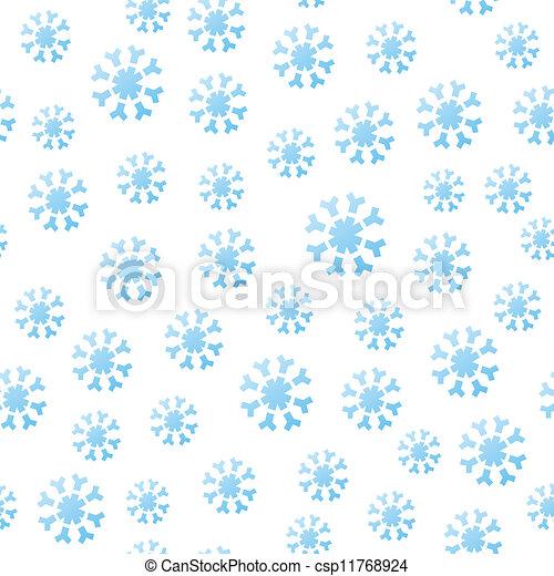 Seamless Falling Snowflakes - csp11768924